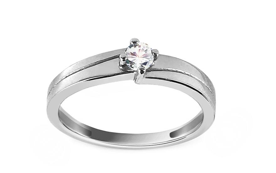 Zásnubní prsten Pretty 5 white CSRI2081A