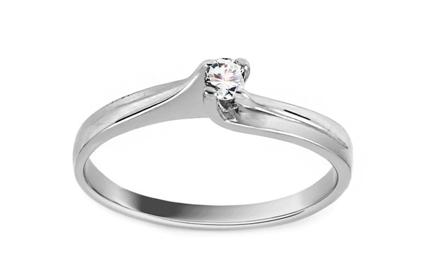 Zásnubní prsten Princess 7 white CSRI242A