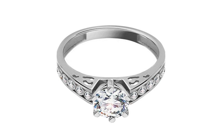 Krásný zásnubní prsten Isarel 30 CSRI801A