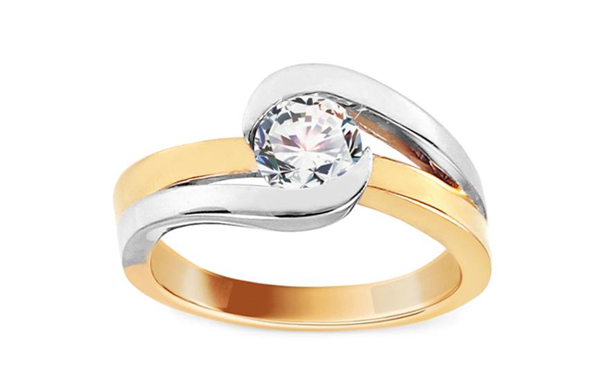 Zlatý zásnubní prsten Ramona 5 CSRI1192