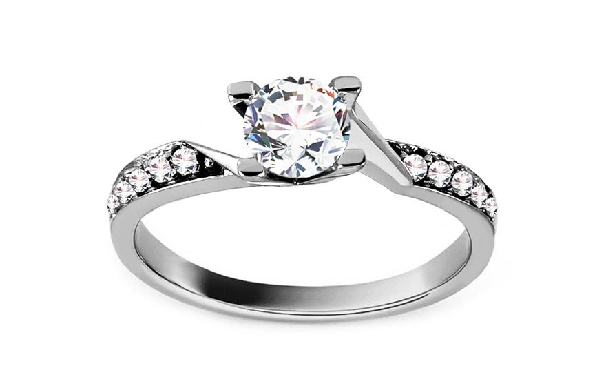 Zlatý zásnubní prsten Romantic CSRI807A