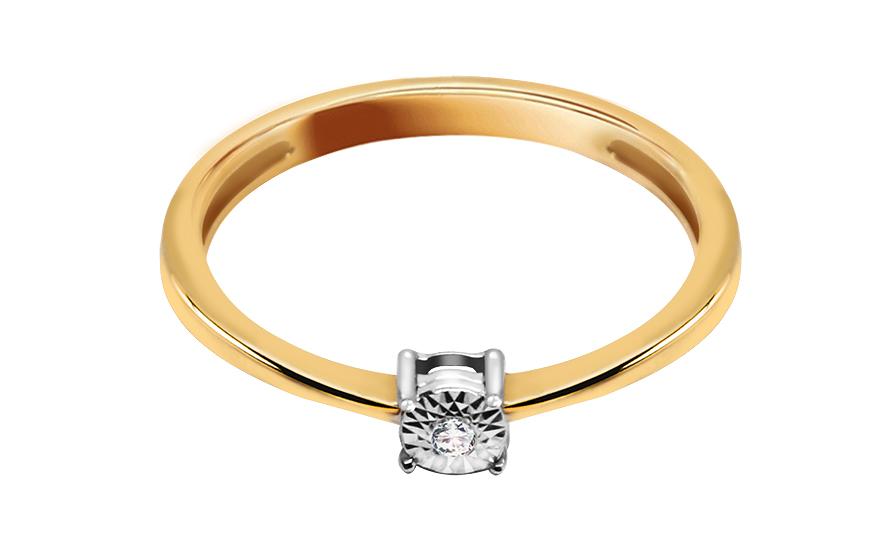 Zásnubní prsten s 0,010 ct briliantem ACLARADO 16 KU0047