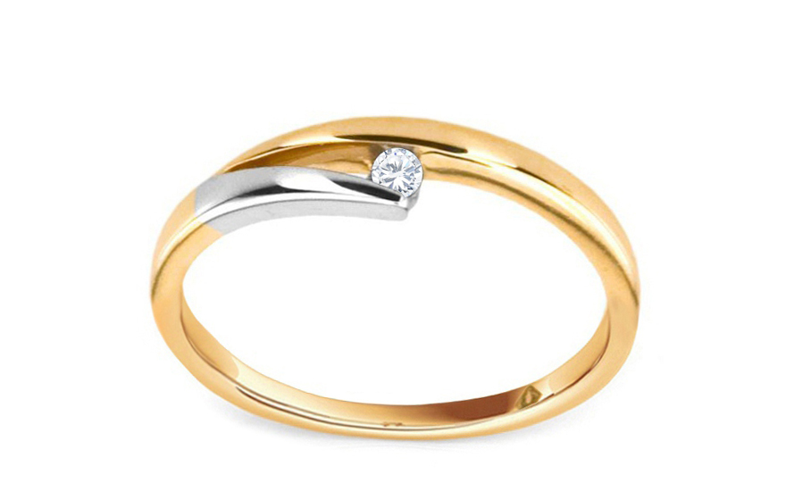 Zásnubní prsten s briliantem 0,030 ct Elinor 1 KU0013