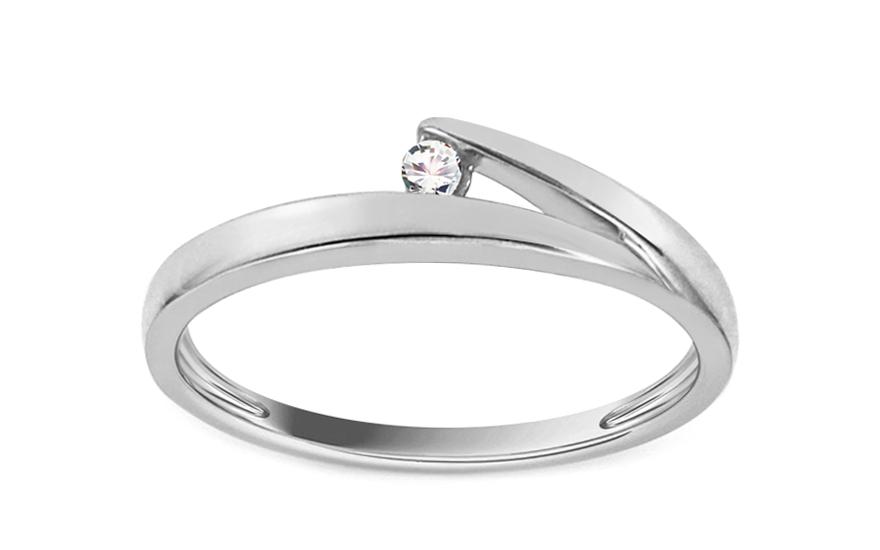 Zásnubní prsten s briliantem 0,030 ct Elinor 1 KU0034