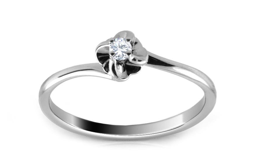 Zásnubní prsten s briliantem 0,040 ct Alyana ARBR23