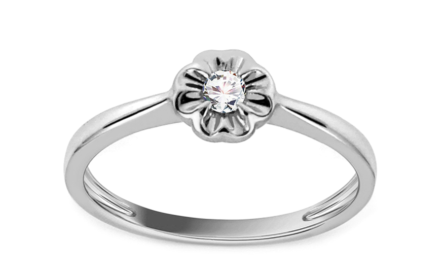 Zásnubní prsten s 0,050 ct briliantem Lyann 4 KU0060