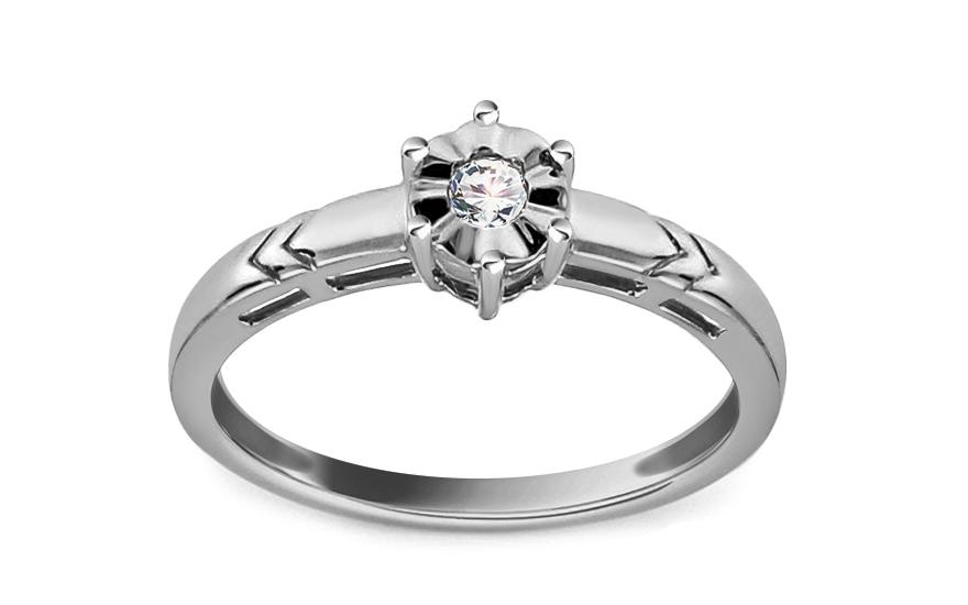 Zásnubní prsten s 0,060 ct briliantem ACLARADO 2 KU0037