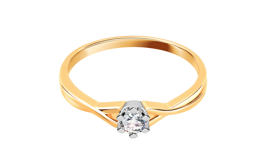 Zásnubní prsten s 0,060 ct briliantem Amazing love CSBR11