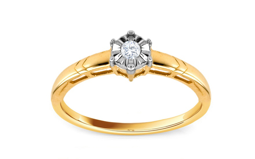 Zásnubní prsten s 0,070 ct briliantem Mariya 5 KU0016