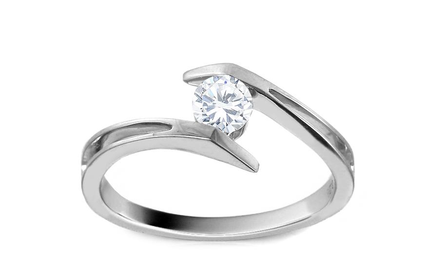 Zásnubní prsten s briliantem 0,280 ct KU336A
