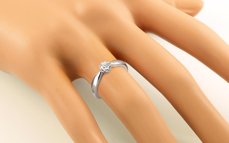 Zásnubní prsten s briliantem 0,300 ct KU338A