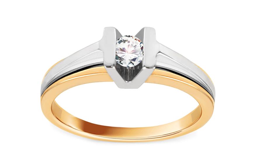 Zásnubní prsten s briliantem Diamond for you 0,140 ct CSBR14