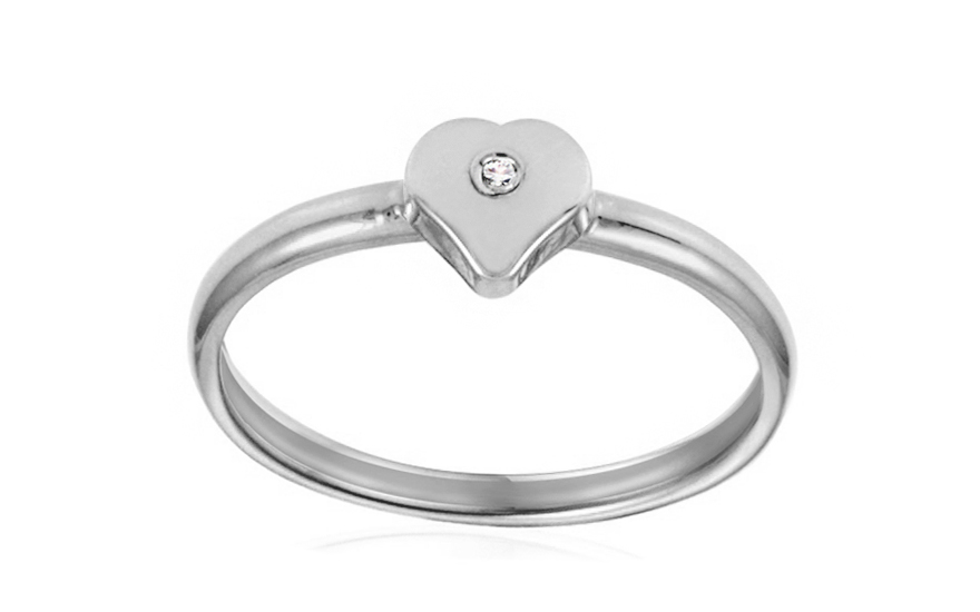 Zásnubní prsten s briliantem Jasmina 0,0050 ct IZ6804A