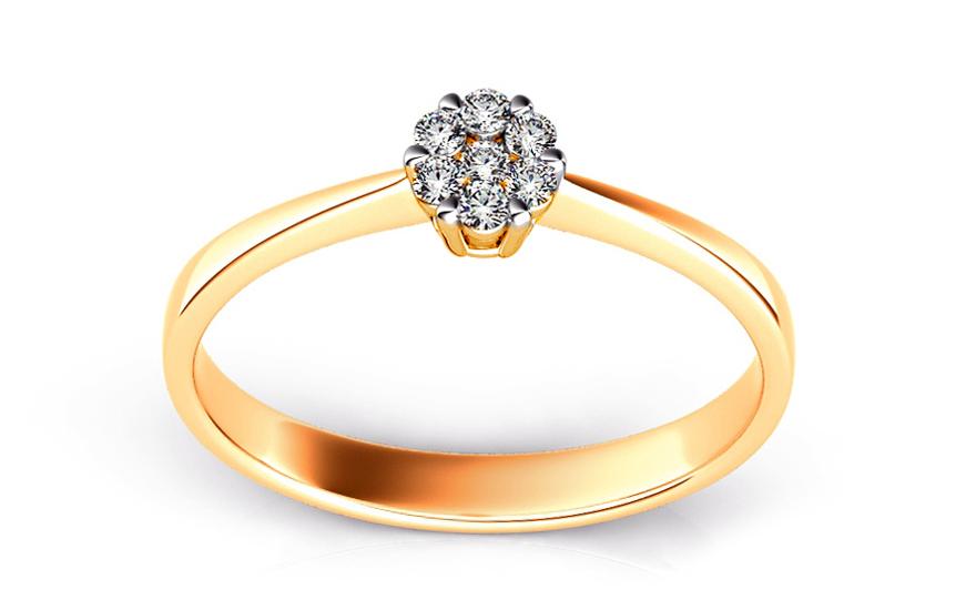Zásnubní prsten s brilianty 0,110 ct Passion 2 ARBR09Y