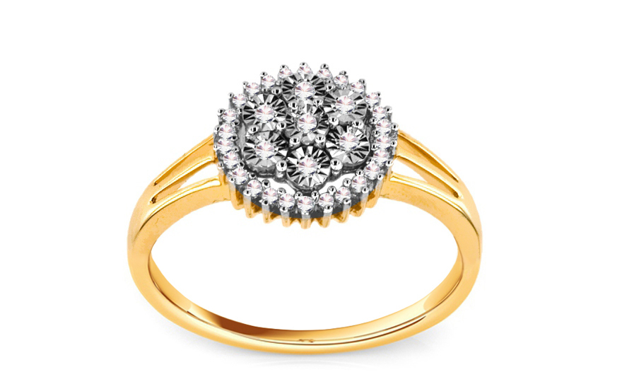 Zásnubní prsten s brilianty 0,120 ct Marissa 3 KU122