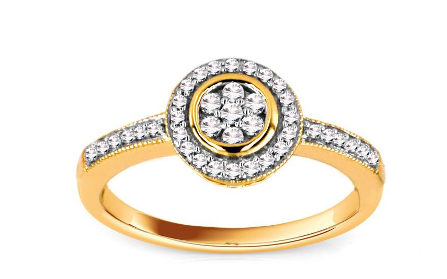 Zásnubní prsten s brilianty 0,200 ct ardiente 1 KU155