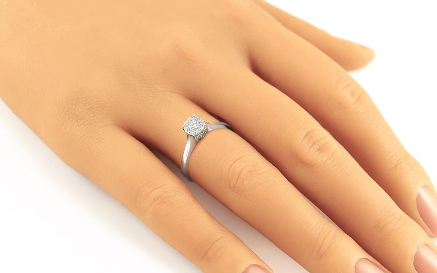 Zásnubní prsten s brilianty 0,200 ct Passion white ARBR12