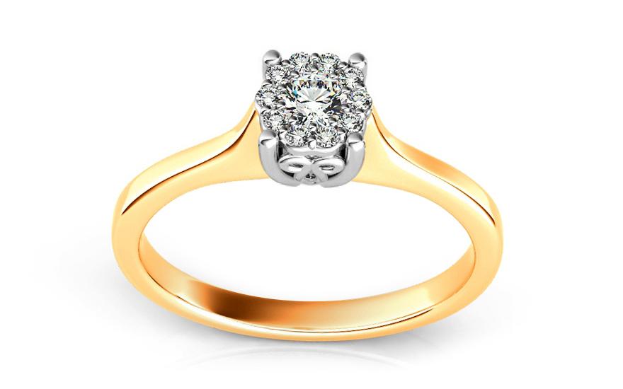 Zásnubní prsten s brilianty 0,200 ct Passion ARBR12Y
