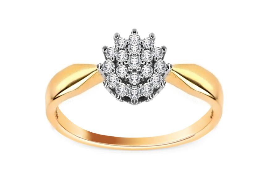 Zásnubní prsten s 0,210 ct brilianty Chantal CSBR2252