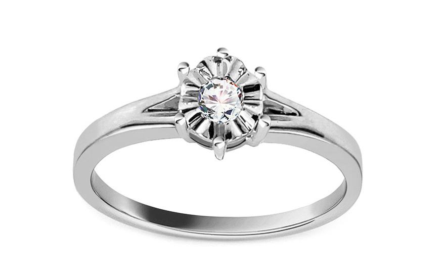 Zásnubní prsten s diamantem 0,070 ct Mariya 3 KU0065A