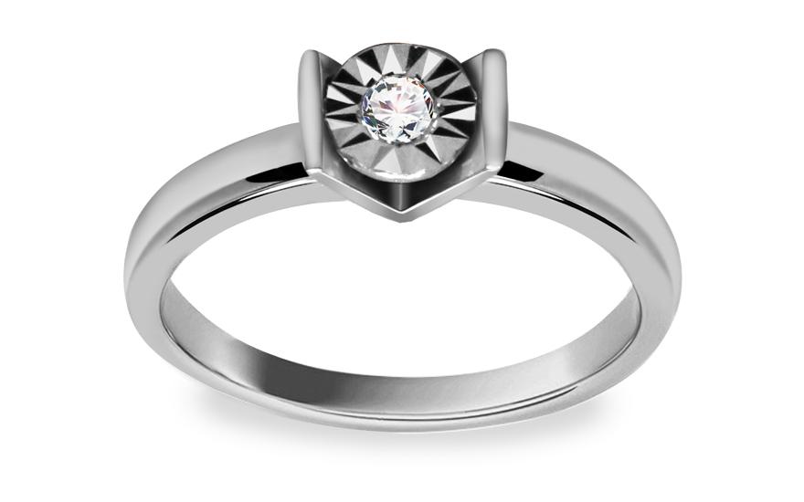 Zásnubní prsten s diamantem 0,070 ct Mariya 4 KU158