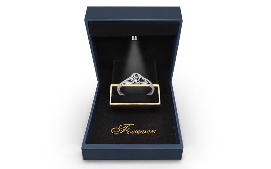 Zasnubni Prsten S Diamantem 0 080 Ct Rose Pro Zeny Ku161