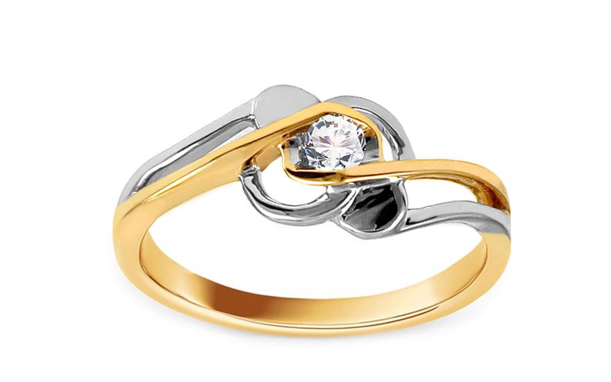 Zasnubni Prsten S Diamantem 0 080 Ct Rose 3 Pro Zeny Ku173