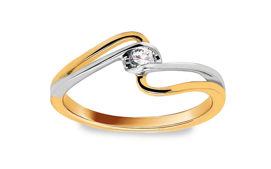 Zásnubní prsten s diamantem 0,080 ct Sheila 8 KU174