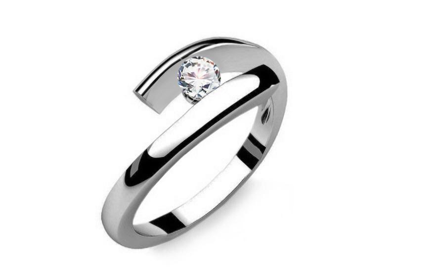 Zasnubni Prsten S 0 090 Ct Diamantem Lines Of Love 3 Pro Zeny
