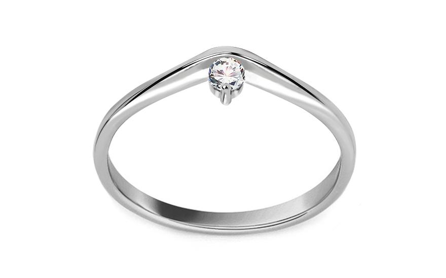 Zásnubní prsten s diamantem 0,090 ct Lines Of Love 9 LRBR040