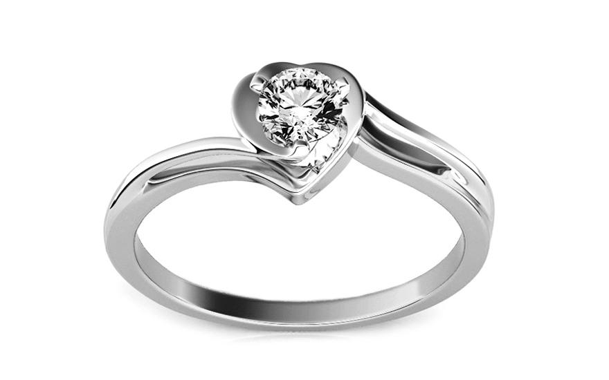 Zasnubni Prsten S Diamantem 0 150 Ct Etos 1 White Pro Zeny Ku184a