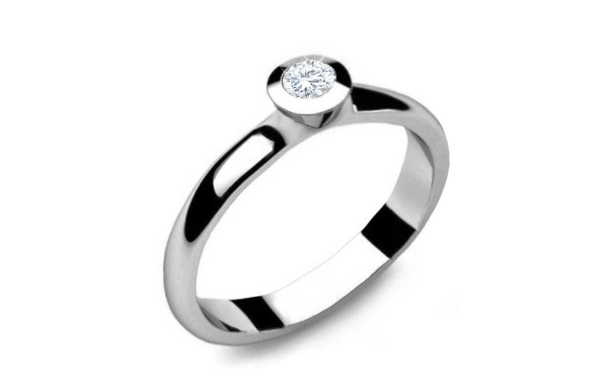 Zásnubní prsten s diamantem 0,150 ct Power of love 6 LRBR007