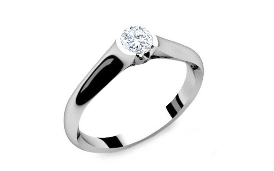 Zásnubní prsten s diamantem 0,150 ct Power of love 8 LRBR016