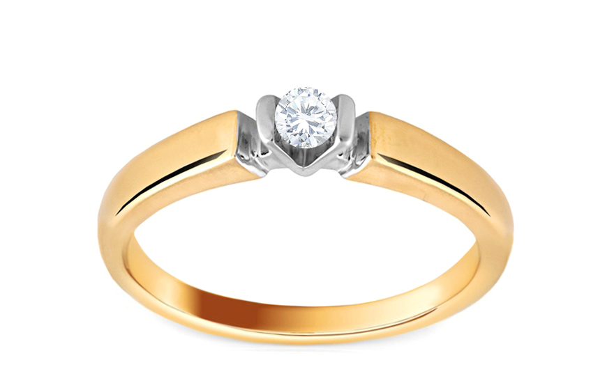 Zásnubní prsten s 0,120 ct diamantem Biane Famose KU263
