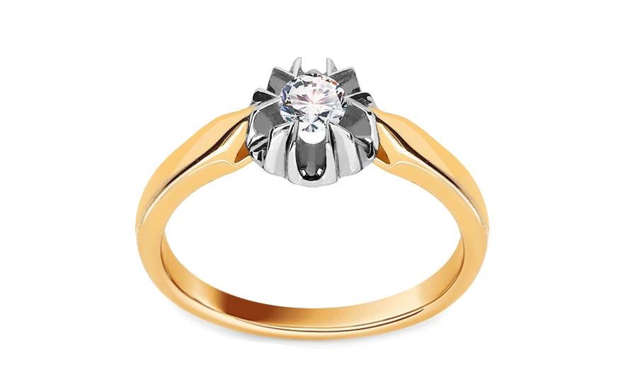 Zásnubní prsten s 0,150 ct diamantem Ginny KU259