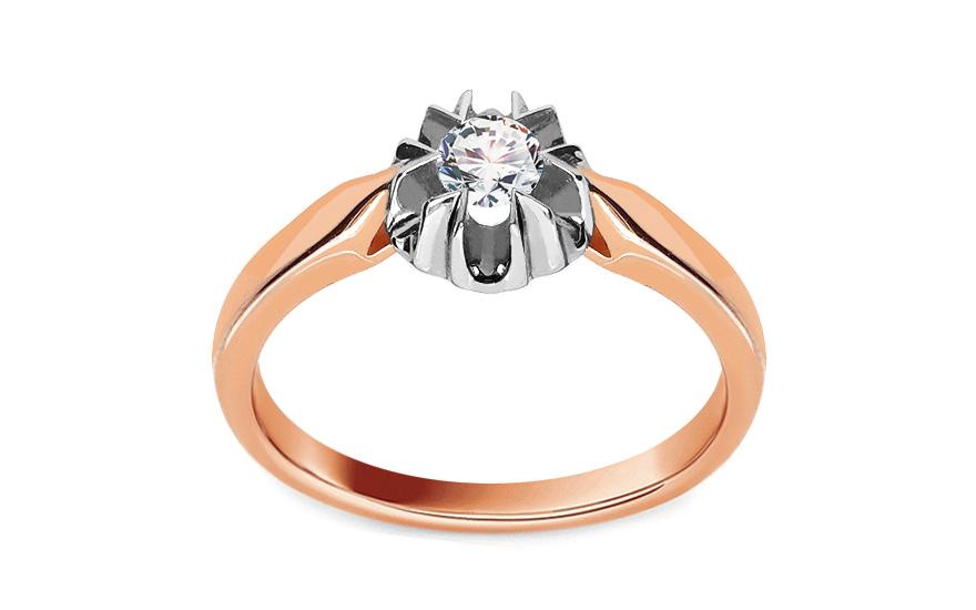 Zásnubní prsten s 0,150 ct diamantem Ginny pink KU259R