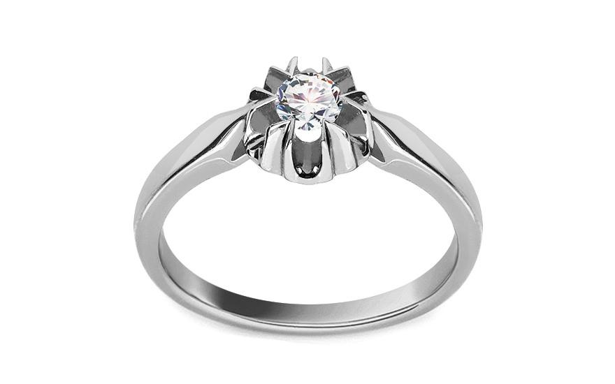Zásnubní prsten s 0,150 ct diamantem Ginny white KU259A