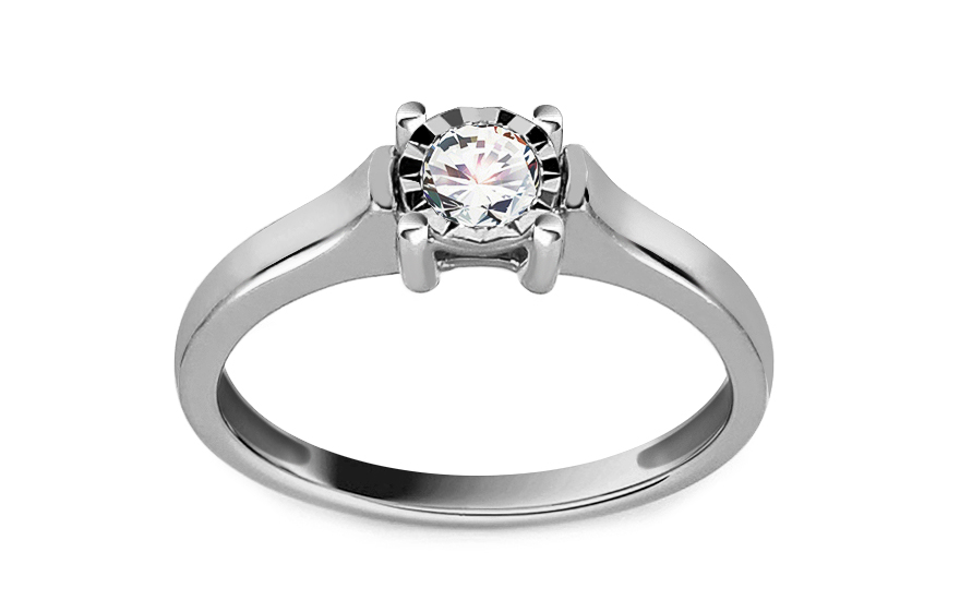 Zásnubní prsten s 0,200 ct diamantem Illusion Eye KU240