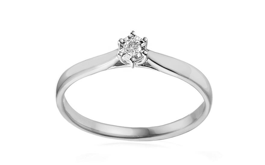 Zásnubní prsten s diamantem Lawanda 2 white IZBR303AM