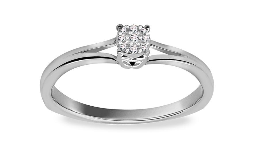 Zásnubní prsten s diamanty 0,040 ct Elinor 8 KU157