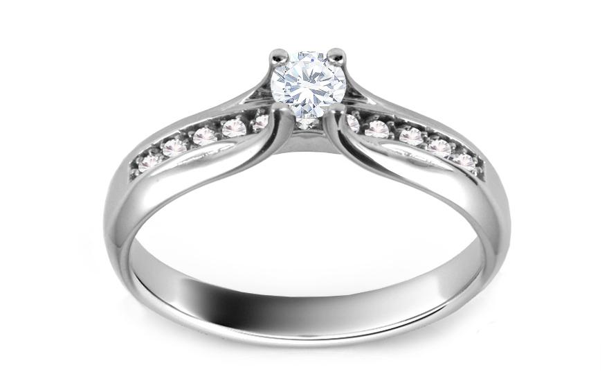 Zásnubní prsten s diamanty 0,260 ct Shine Glory ARBR31