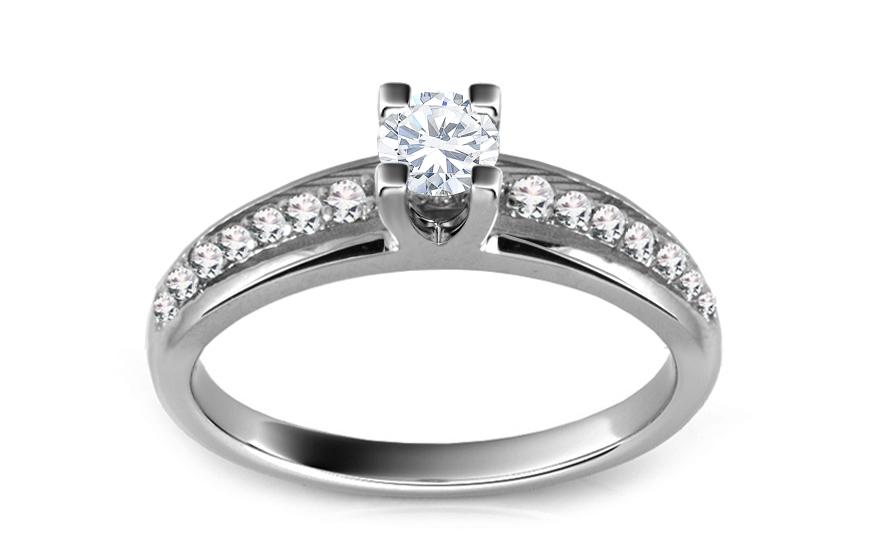 Zásnubní prsten s diamanty 0,420 ct Vision Glory ARBR28