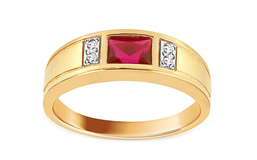 Zásnubní prsten s rubínem Isar CSRI1072