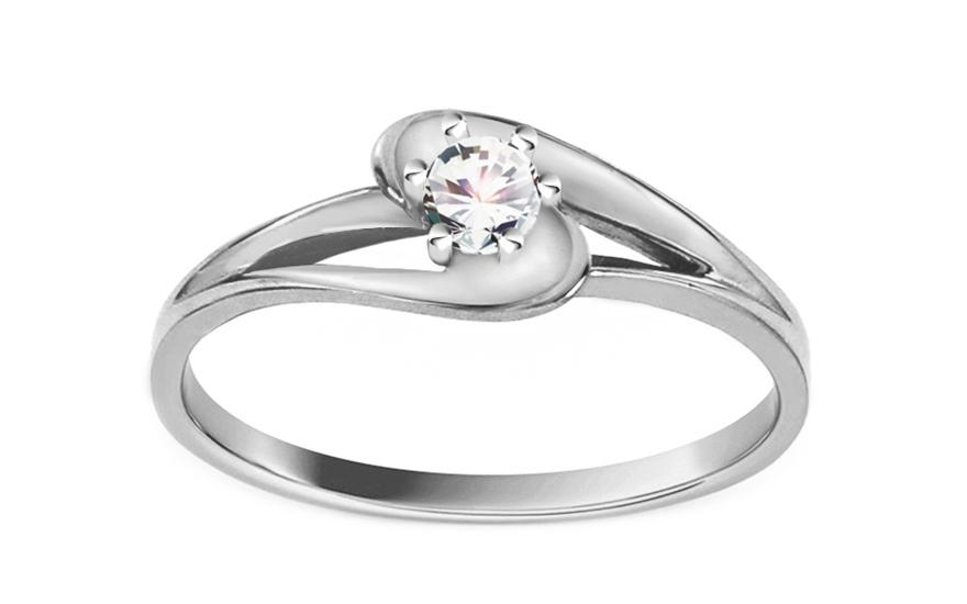 Zásnubní prsten se zirkonem Pretty 2 white CSRI1343A