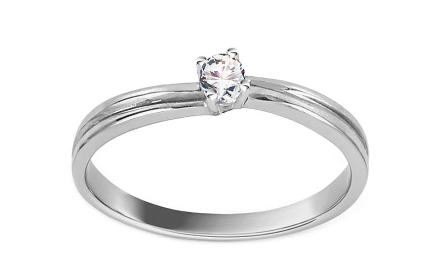 Zásnubní prsten se zirkony Princess 5 white CSRI2080A