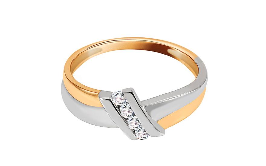 Zásnubní prsten s 0,100 ct diamanty Sheila 3 KU104
