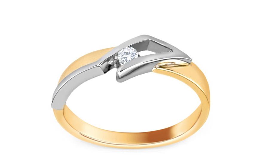 Zásnubní prsten s briliantem 0,060 ct Variant of love CSBR22