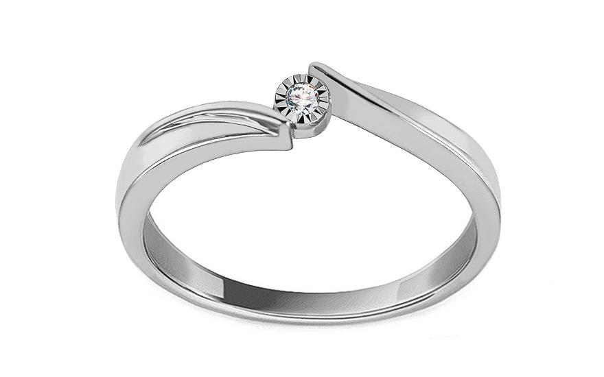 Zasnubni Prsten Z Bileho Zlata S Diamantem 0 010 Ct Vanora Pro Zeny