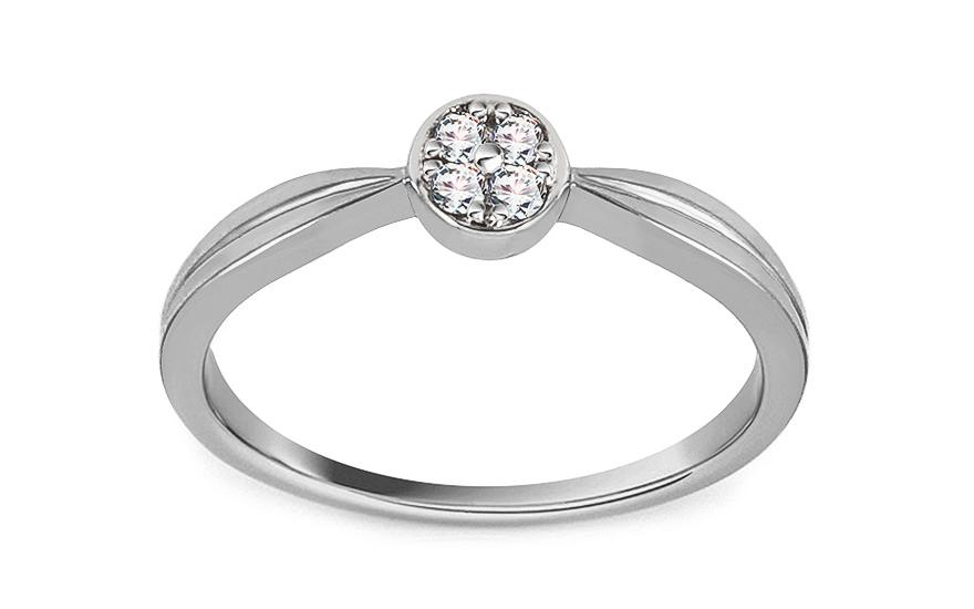 Zasnubni Prsten Z Bileho Zlata S Diamantem 0 060 Ct Acasia Pro Zeny