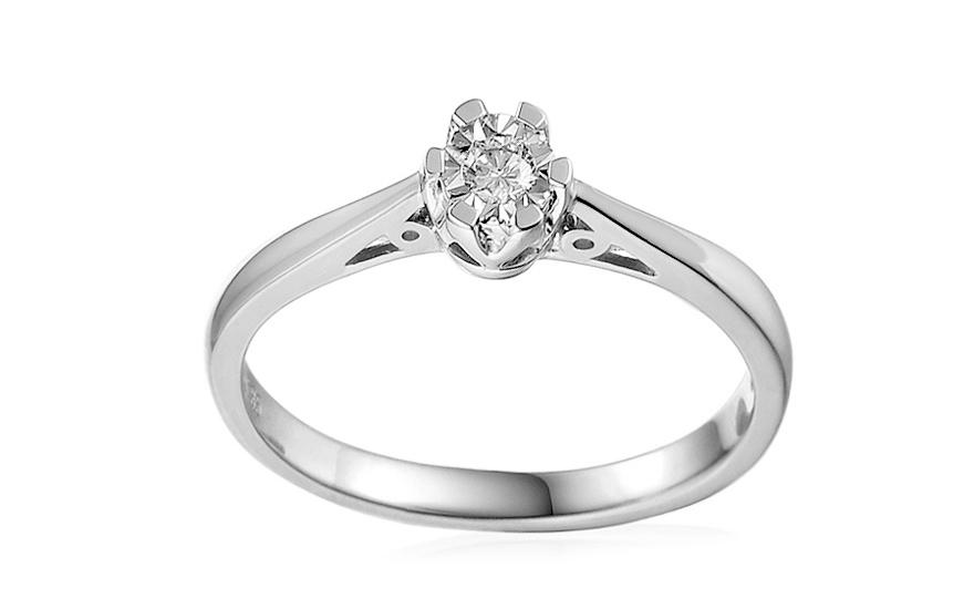 Zásnubní prsten z bílého zlata s diamantem Adalie 2 IZBR107APM